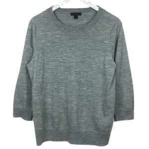 J.Crew Grey Merino Wool Tippi Sweater